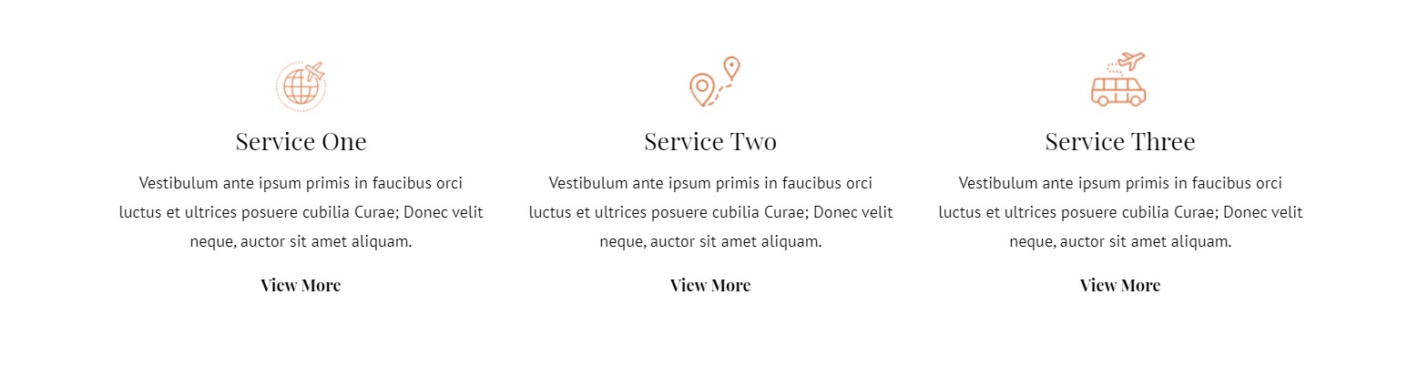 template for services offered