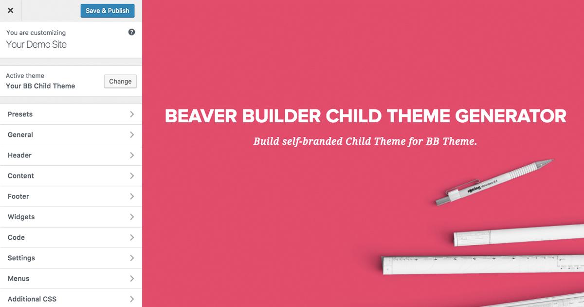 Beaver Builder Child Theme Generator