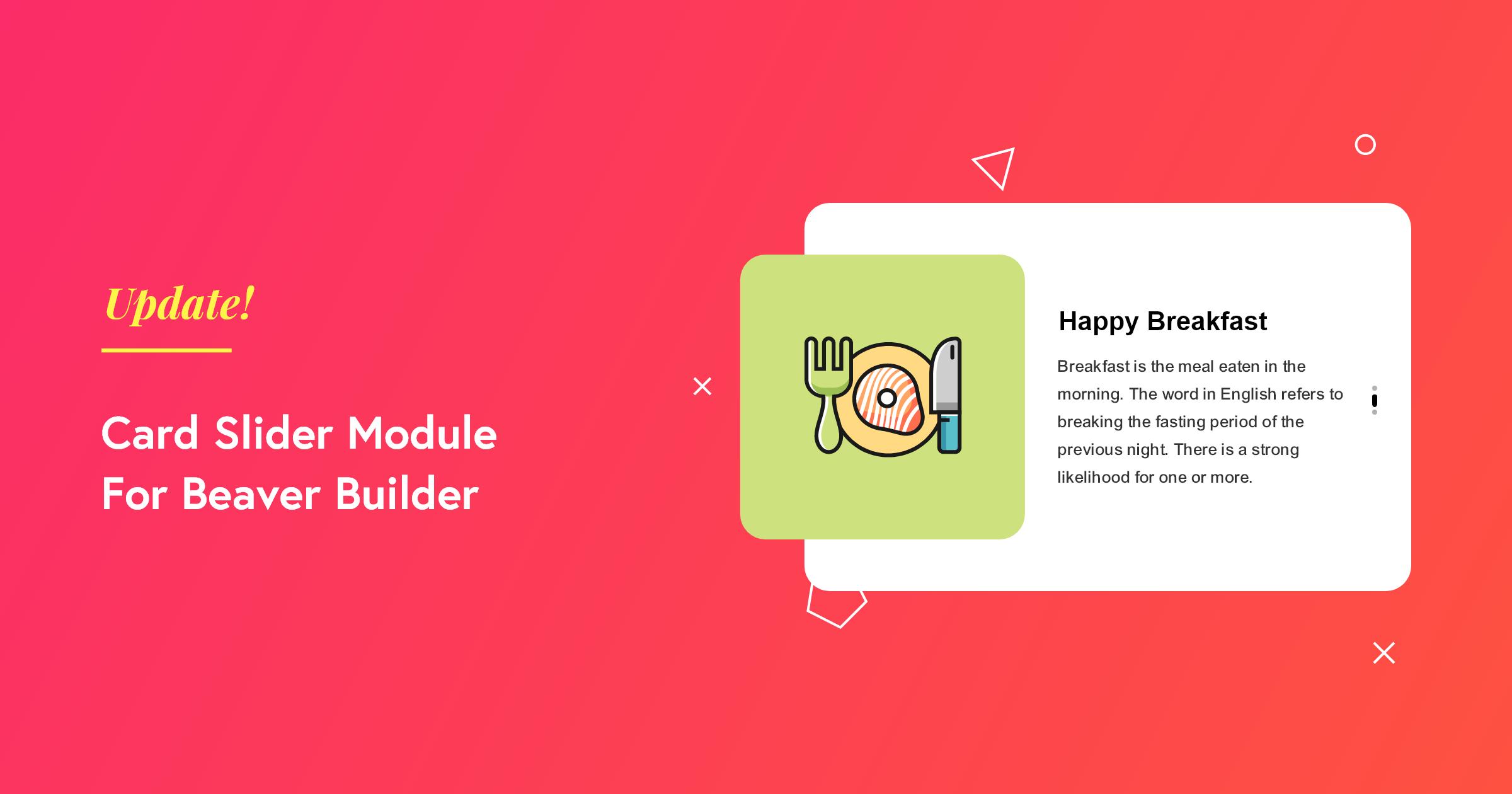 Card Slider Module for Beaver Builder