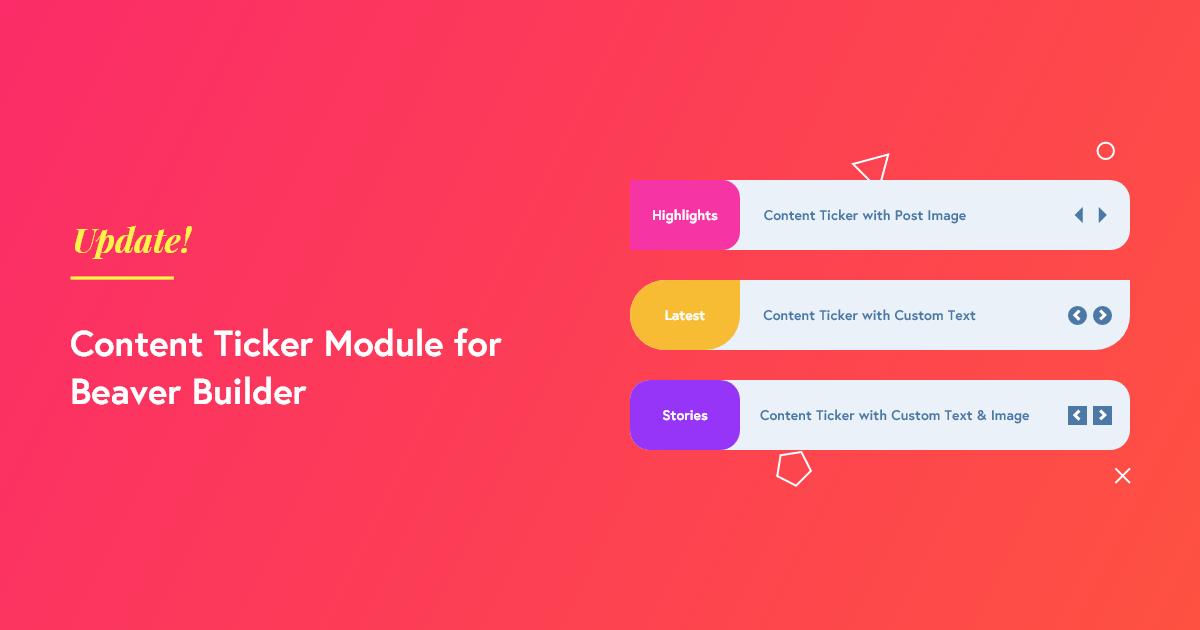 content ticker module for beaver builder