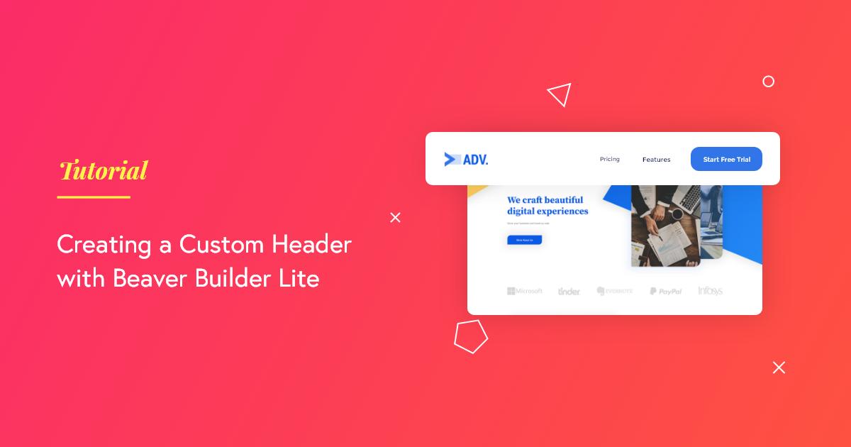 Custom Header Beaver Builder